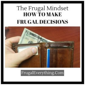 how to make frugal decisions